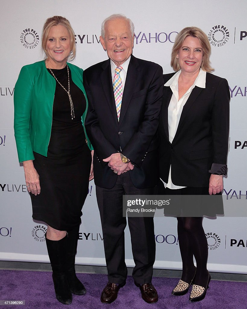 Exectutive producer Lori McCreary, panel moderator Bob Schieffer and creator/writer Barbara Hall attend The Paley Center for Media presents an evening with 'Madame Secretary' at The Paley Center For Media on April 27, 2015 in New York City.