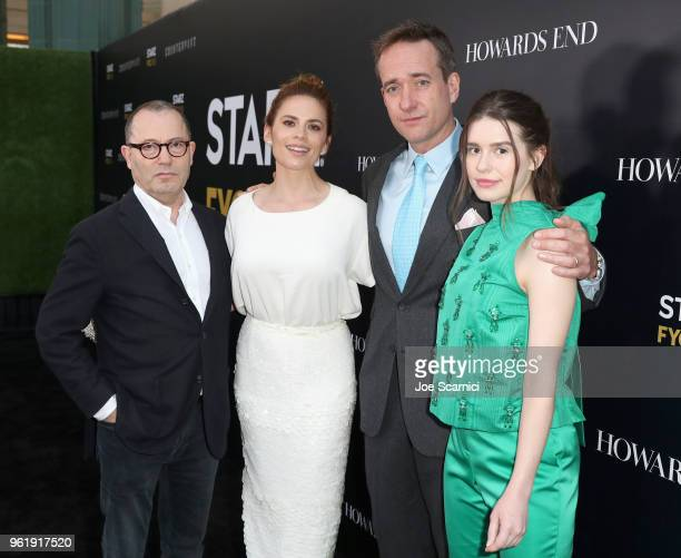 Execuctive producer Colin Callender actors Philippa Coulthard Matthew Macfadyen and Hayley Atwell of Howards End attend the STARZ Counterpart Howards...