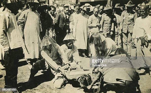 Execution by beheading China early 20th century Decapitated