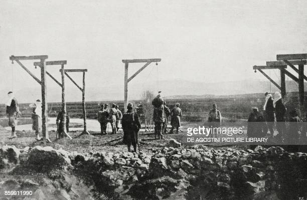 Execution of Bosnian rebels in 1917 World War I from l'Illustrazione Italiana Year XLV No 44 November 3 1918