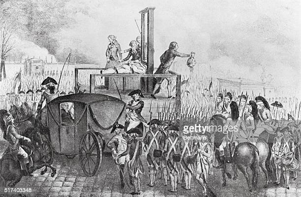 Execution of French monarch Louis XVI.