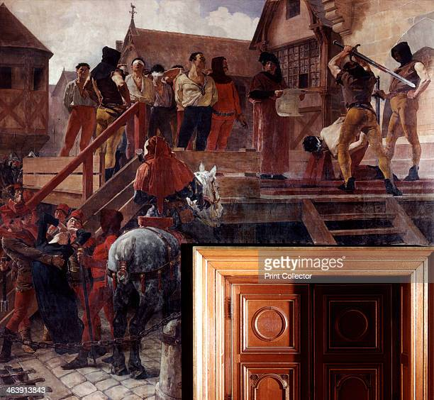 Execution of Jean Desmartes 1383 Jean Desmartes and eleven notables are decapitated after the revolt of the maillotins in Paris From the Hotel de...