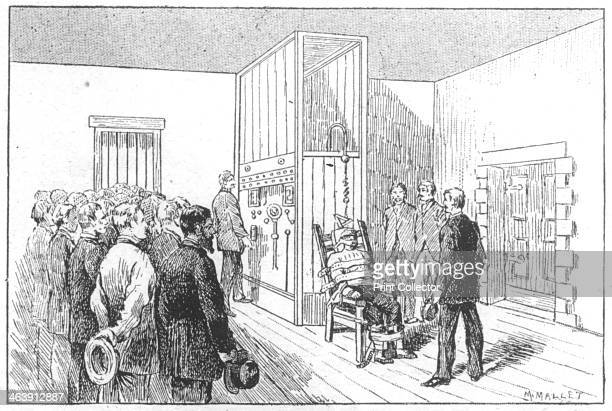 Execution of Kemmler the first man to die in the electric chair Auburn Prison USA 6 August 1890 William Kemmler a brute who chopped a woman to bits...