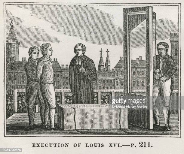 Execution of Louis XVI Illustration from the Book Historical Cabinet LH Young Publisher New Haven 1834