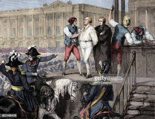 Execution of Louis XVI of France, Paris, 21st January 1793 . After the monarchy was overthrown by the French Revolution in 1789, Louis, his Queen,...