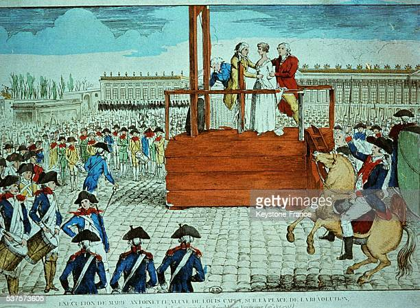 Execution of MarieAntoinette at the Concorde square on October 16 1793 in Paris France
