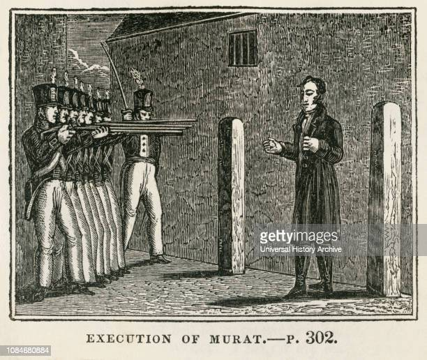 Execution of Murat Illustration from the Book Historical Cabinet LH Young Publisher New Haven 1834