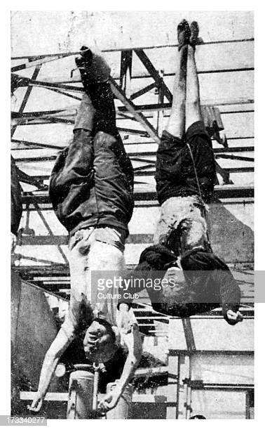 Execution of Mussolini and his mistress. 40th Prime Minister of Italy and leader of National Fascist Party: 29 July 1883 – 28 April 1945. Benito...