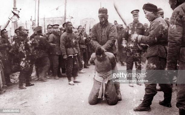 Execution of rebels in Beijing China following the Boxer Rebellion The Boxer Uprising or Yihetuan Movement was an antiimperialist uprising which took...