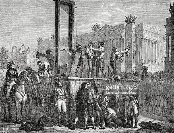 Execution of Robespierre Saint Just and others 28 July 1794 Maximilien Robespierre17581794 Jacobin leader during French Revolution Louis Antoine Leon...