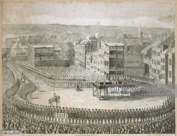 'Execution of the rebel lords in 1745' Tower Hill London 18th century It is thought the picture may actually show the executions of the Earl of...