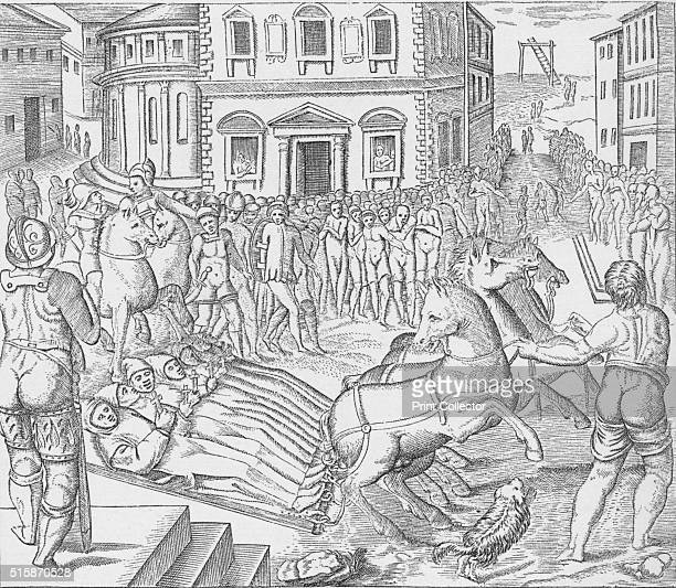 Execution of three Carthusian martyrs Tyburn London 1535 On 19 June 1535 three monks of the London Charterhouse were executed at Tyburn Sebastian...