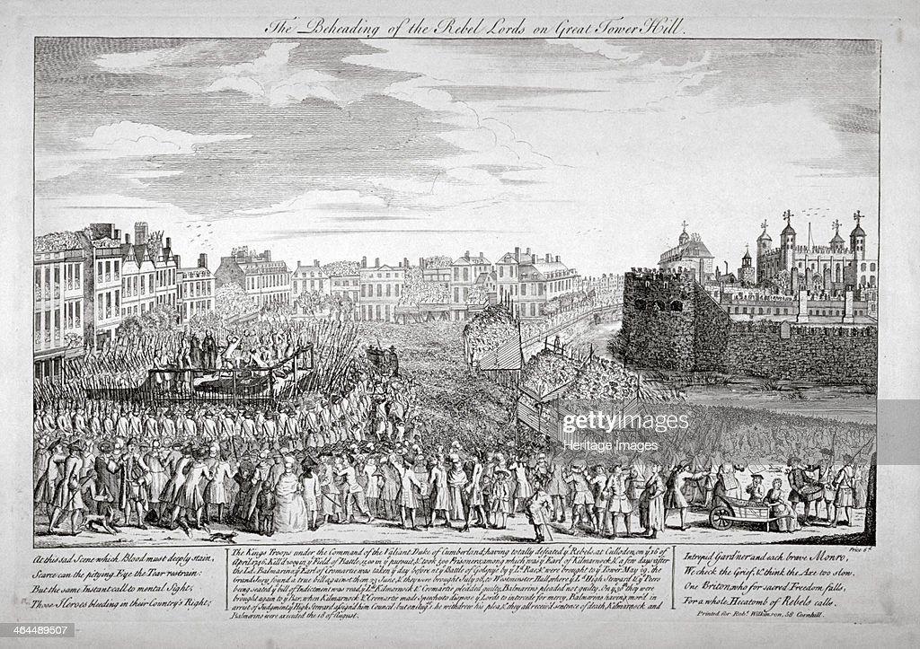 Execution on Tower Hill, London, 1746. Artist: Anon : News Photo