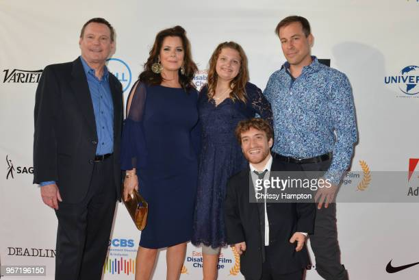 Executive board member Mark Whitley Actress Marcia Gay Harden with talent Emily Hopper actor Nic Novicki actor Kurt Yaeger arrive on the red carpet...