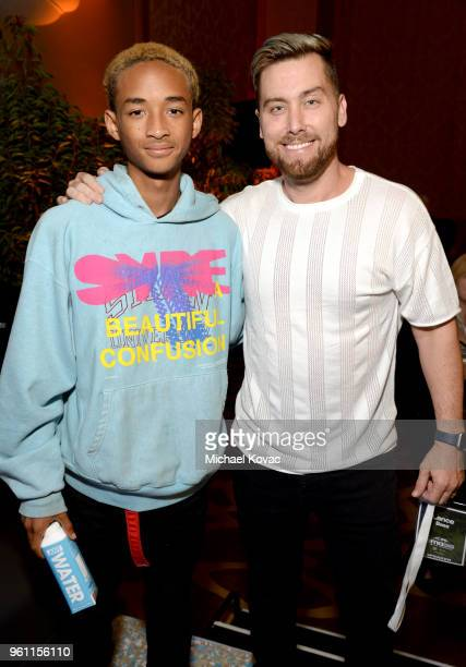 Executive Board Officer Jaden Smith and Lance Bass attend the EMA IMPACT Summit at Montage Beverly Hills on May 21 2018 in Beverly Hills California