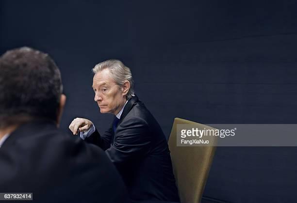 Executive businessmen in meeting