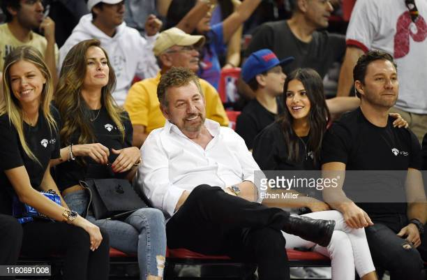 Executive chairman and CEO of The Madison Square Garden Company and executive chairman of MSG Networks James L Dolan model Marcela Braga and Tao...