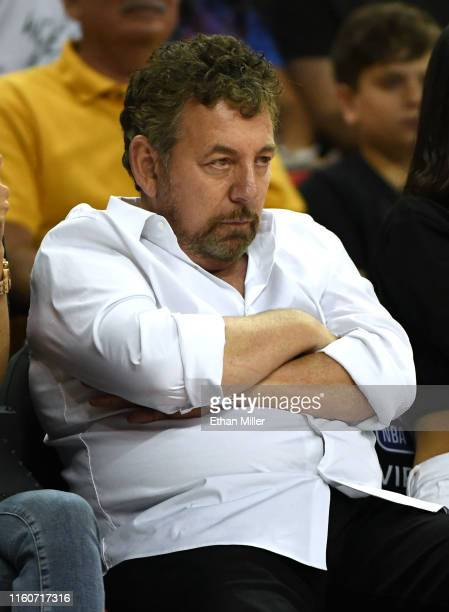 Executive chairman and CEO of The Madison Square Garden Company and executive chairman of MSG Networks James L. Dolan attends a game between the New...