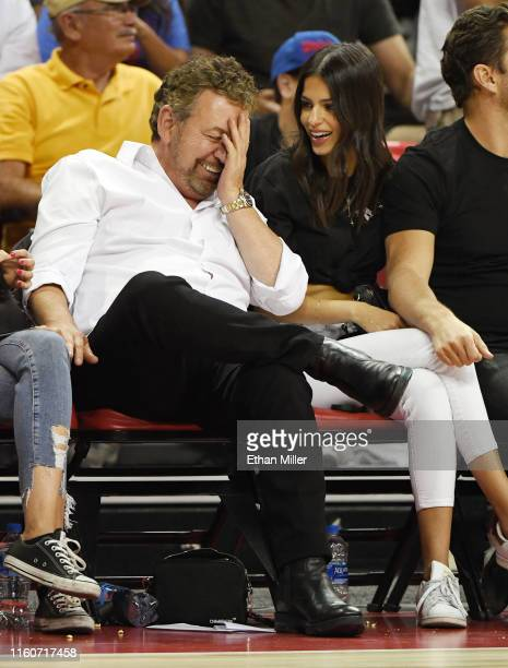 Executive chairman and CEO of The Madison Square Garden Company and executive chairman of MSG Networks James L Dolan and model Marcela Braga attend a...