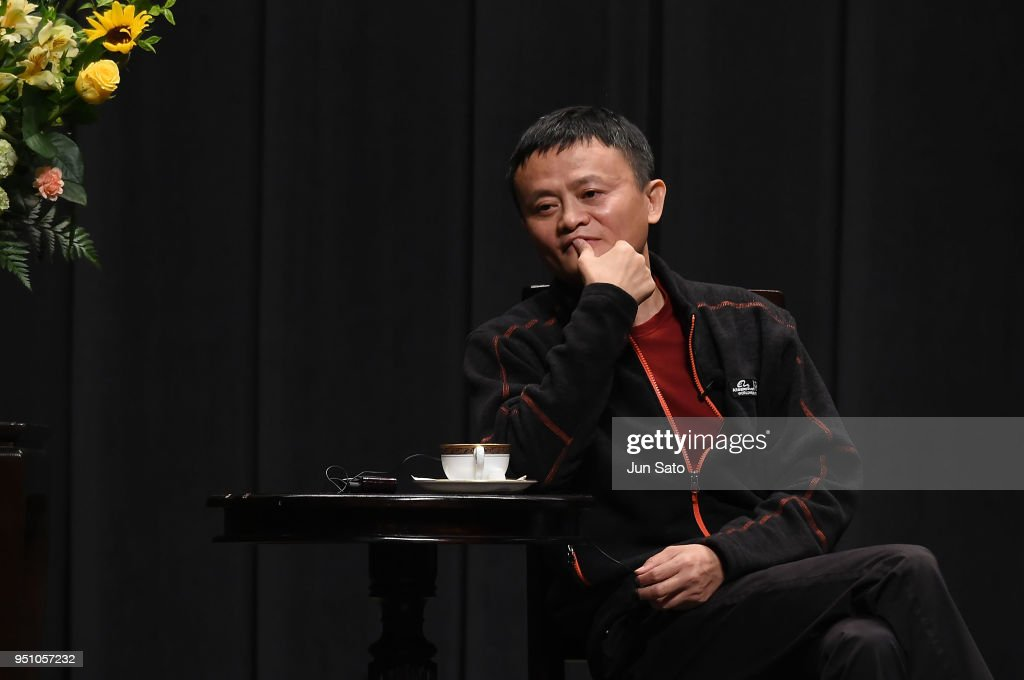 Jack Ma Meets Future Global Leaders at Waseda University : News Photo
