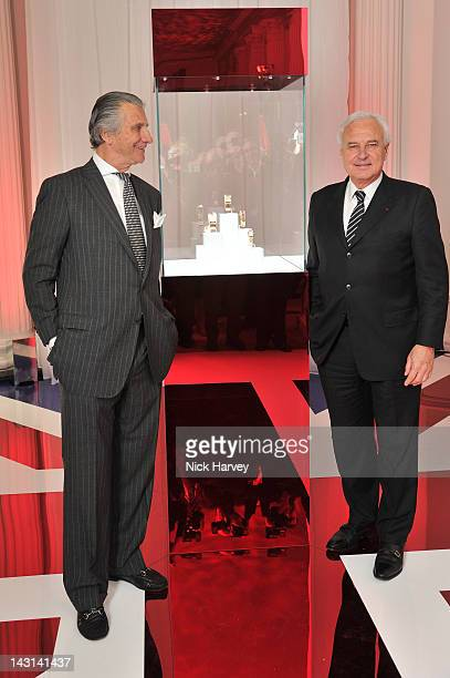 Executive Chairman of Cartier UK Arnaud Bamberger and Cartier President and CEO Bernard Fornas launch the Cartier Tank Anglaise Watch Collection at...