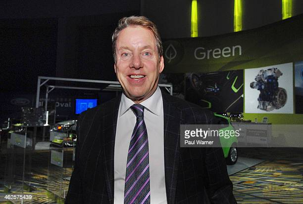 Executive Chairman of Ford Motor Co. Bill Ford Jr attends the media preview for 2014 North American International Auto Show at Cobo Hall on January...