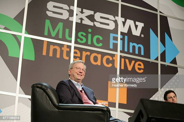Executive Chairman of Google Eric Schmidt speaks onstage at 'The New Digital Age' during the 2014 SXSW Music Film Interactive Festival at Austin...
