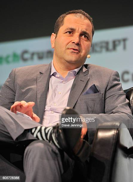 Executive Chairman of Hyperloop One Shervin Pishevar speaks onstage during TechCrunch Disrupt SF 2016 at Pier 48 on September 14 2016 in San...