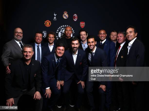 Executive Chairman of Relevent Sport Group Charlie Stillitano, Daniele Massaro of AC Milan, Lothar Matthaus of FC Bayern, Diego Forlan of Atletico...