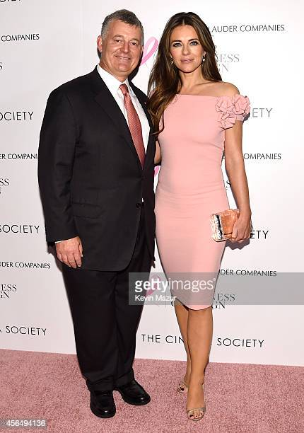 Executive Chairman The EsteŽe Lauder Companies Inc William P Lauder and Global Ambassador The BCA Campaign Elizabeth Hurley attends a special...
