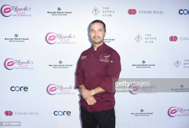 Executive chef at Craig's Kursten Kizer attends Rhonda's Kiss 'Kiss The Stars' Cancer Fundraising Dinner at The Estate Club's Sky Castle Estate on...