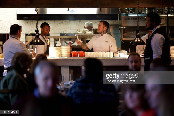 HARBOR MD Executive Chef Cole Dickinson expedites during dinner at Voltaggio Brothers Steak House at the MGM National Harbor photographed in National...