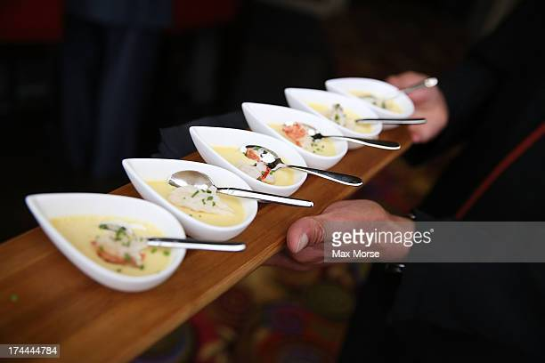 Executive Chef, David Hollands' unique take on Chawanmushi, a Japanese Steamed Egg Custard, as part of the event's travel-inspired, yet...