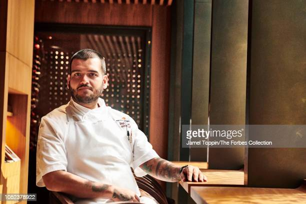 Executive chef Diego Garcia is photographed for Forbes Magazine on August 8 2018 at the Four Seasons restaurant in New York City PUBLISHED IMAGE...