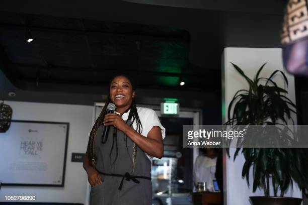 Executive Chef Nyesha Harrington attends Spotify Honors Black Female Creatives For Black History Is Happening Now Campaign on October 22 2018 in...