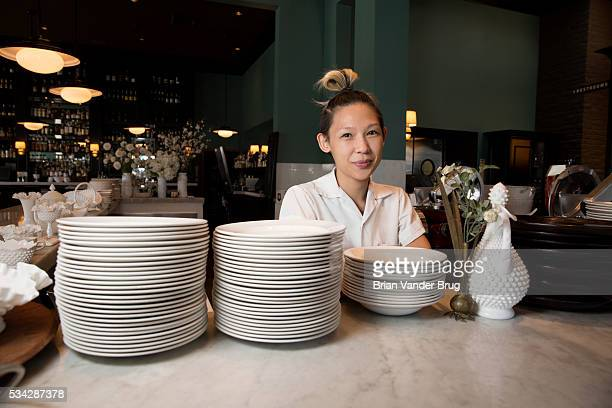 Executive chef of Osteria Mozza Liz Hong for Los Angeles Times on April 27 2016 in Los Angeles California PUBLISHED IMAGE CREDIT MUST READ Brian...