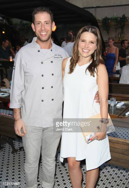 Executive Chef Seth Levine and actress Sophia Bush attend Sophia Bush's Birthday Party at Hotel Chantelle on July 8 2013 in New York City