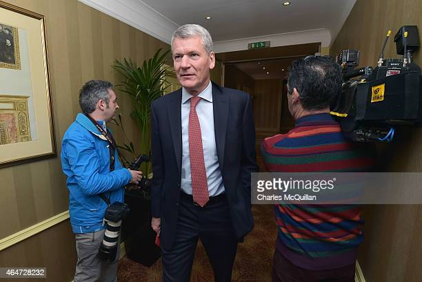 Executive Committee member and former Manchester United Chief Executive David Gill at the International Football Association Board AGM at the...