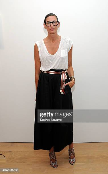 Executive Creative Director for JCrew Jenna Lyons attends Grey Ant during MercedesBenz Fashion Week Spring 2015 at Jack Shainman Gallery on September...