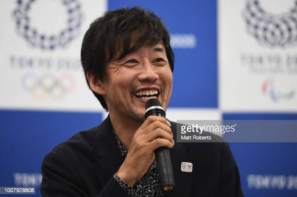 af95509e1e3e Executive Creative Director for the Olympic Games Takashi Yamazaki speaks  during a press conference of the. Tokyo 2020 Olympic   Paralympic  Opening Closing ...