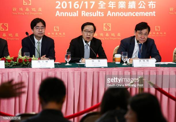 Executive Director Allen Fung Yuklun Deputy Managing Director Victor Lui Ting and Chairman Managing Director Raymond Kwok Pingluen during the Sun...