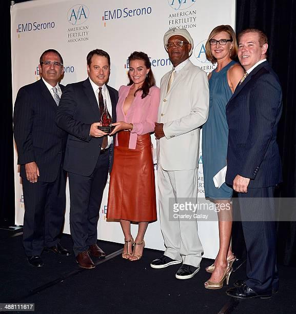 Executive Director American Fertility Association Ken Mosesian Jeffrey Arden Bernstein actors Margot Robbie Samuel L Jackson and Brenda Strong and...