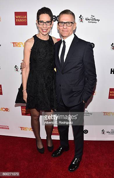 Executive Director and CEO of The Trevor Project Abbe Land and HBO president of programming Michael Lombardo attend TrevorLIVE LA 2015 at Hollywood...