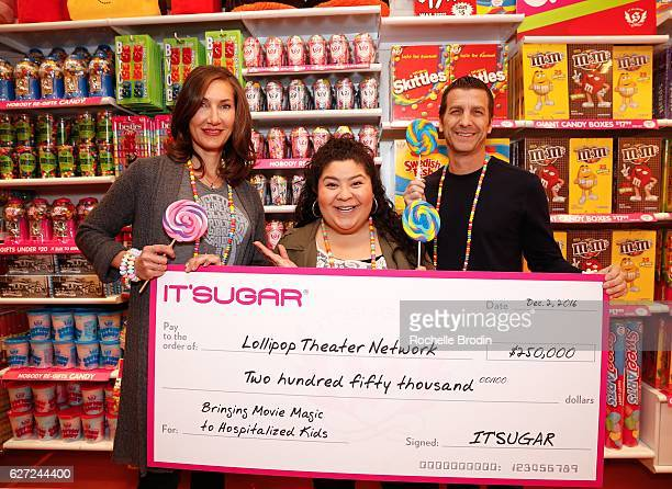 Executive Director and CoFounder of Lollipop Theater Evelyn Iocolano and CEO of IT'S SUGAR Jeff Rubin present organization supported and Disney...