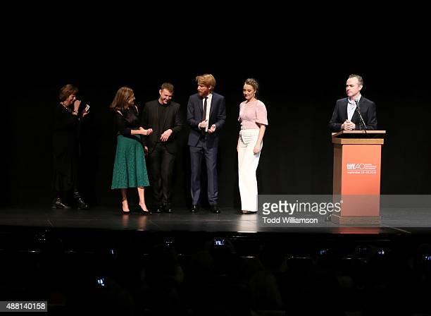 Executive Director and COO Michèle Maheux Producer Finola Dwyer Actor Emory Cohen Actor Domhnall Gleeson Actress Saoirse Ronan and Director John...
