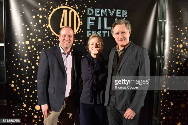 Executive Director Andrew Rodgers Tamara Hurwitz and Bill Pullman pose on the red carpet at a screening of the western 'The Ballad of Lefty Brown'...