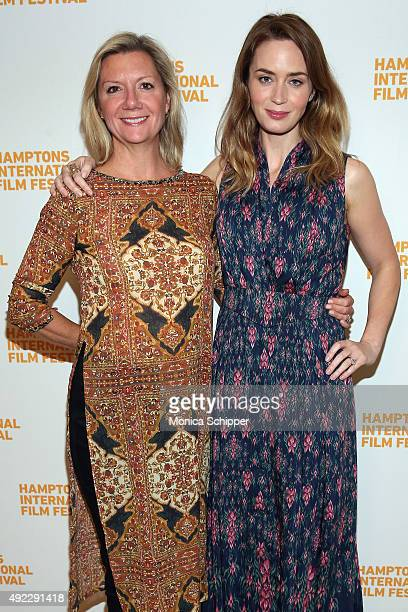 Executive Director Anne Chaisson and actress Emily Blunt attend A Conversation With…Emily Blunt on Day 4 of the 23rd Annual Hamptons International...