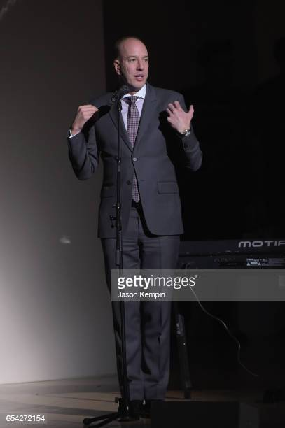 ACLU executive director Anthony D Romero speaks onstage during the Tibet House US 30th Anniversary Benefit Concert Gala to celebrate Philip Glass's...