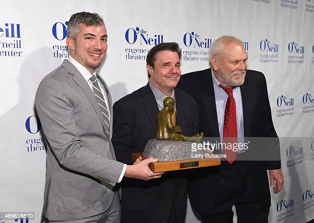 Executive Director at Eugene O'Neill Theater Center Preston Whiteway Actor and Honoree Nathan Lane and Brian Dennehy attend The Eugene O'Neill...