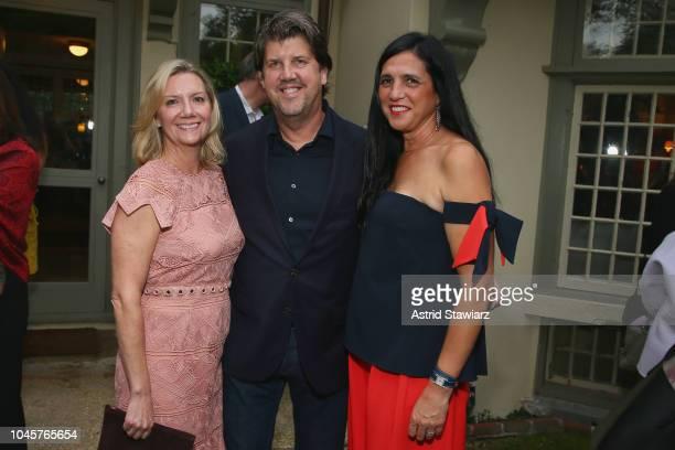 Executive Director at Hamptons International Film Festival Anne Chaisson Jeff Gillis and Antonella Bertello attend the Reception for Alan Alda at...